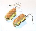 Boucles d'oreilles décalées ! Mini Sandwiches Nordiques