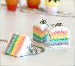 cake, gâteau, miniature, food, cuisine, cooking, jewels, polymer clay, fimo, handmade, créateur, bijoux